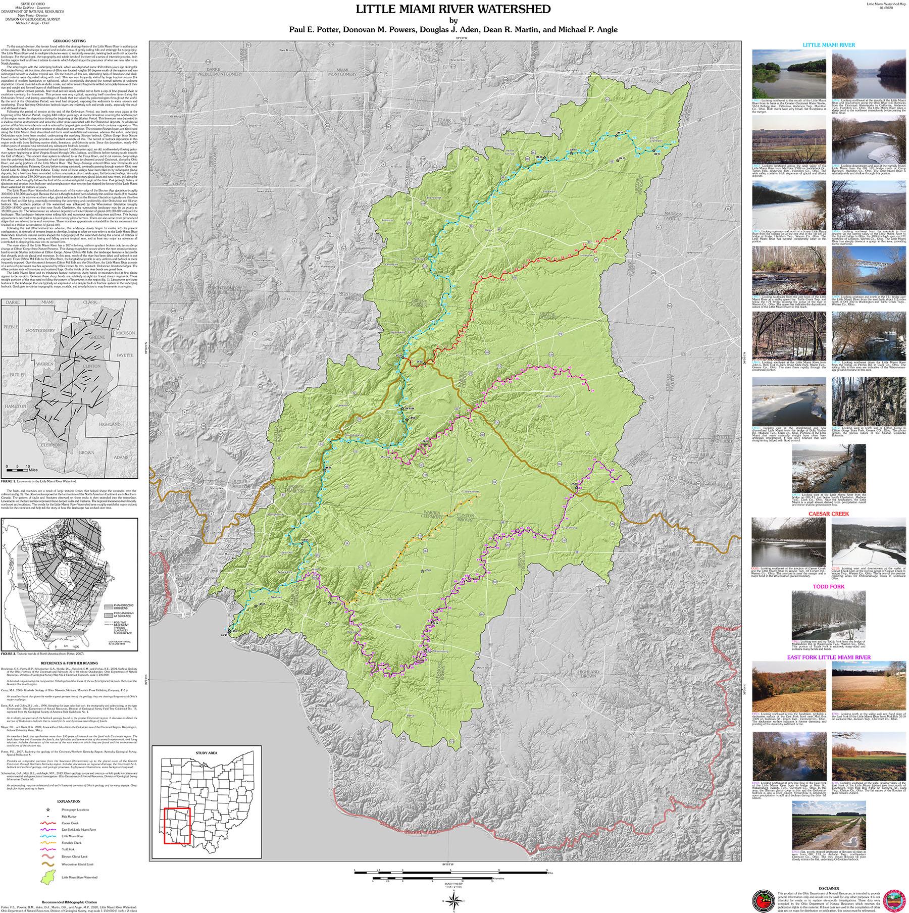 little miami river canoe map New Map Highlights The Little Miami River Watershed In little miami river canoe map